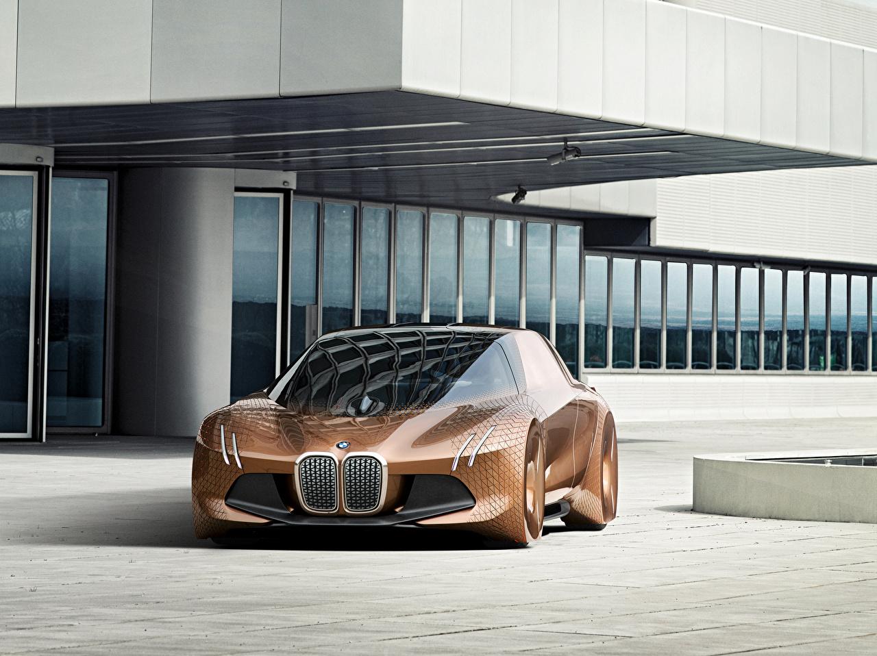 Картинка BMW 2016 Vision Next 100 коричневая машины Металлик БМВ коричневые Коричневый авто машина Автомобили автомобиль