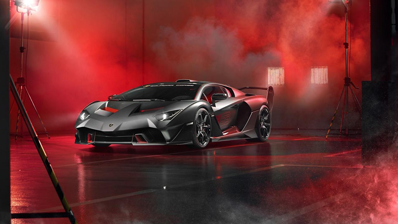 Фотографии Ламборгини Карбон 2018 Aventador SC18 Alston Машины Lamborghini Углепластик Авто Автомобили