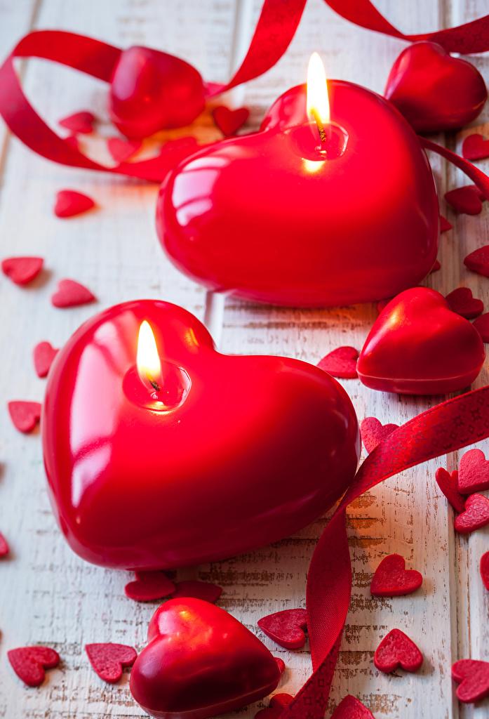 Картинки День святого Валентина Сердце Свечи  для мобильного телефона День всех влюблённых серце сердца сердечко