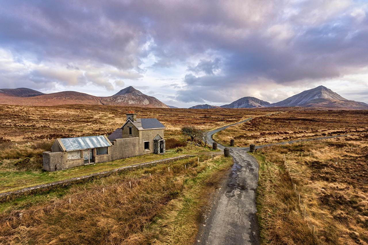 Картинка Ирландия Gortahork, Donegal Горы Природа Дороги гора
