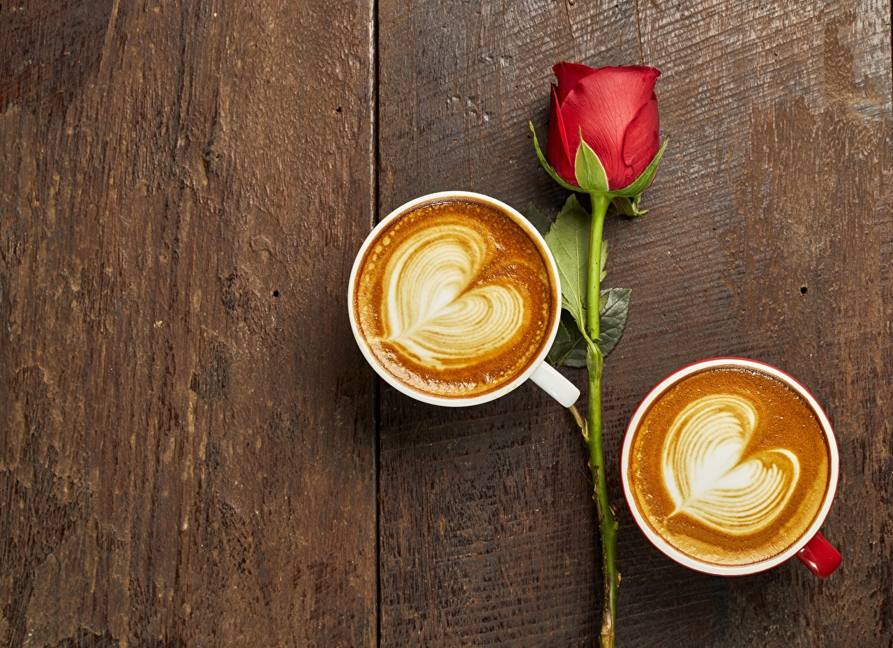Фото сердечко Кофе Капучино цветок Чашка серце сердца Сердце Цветы чашке