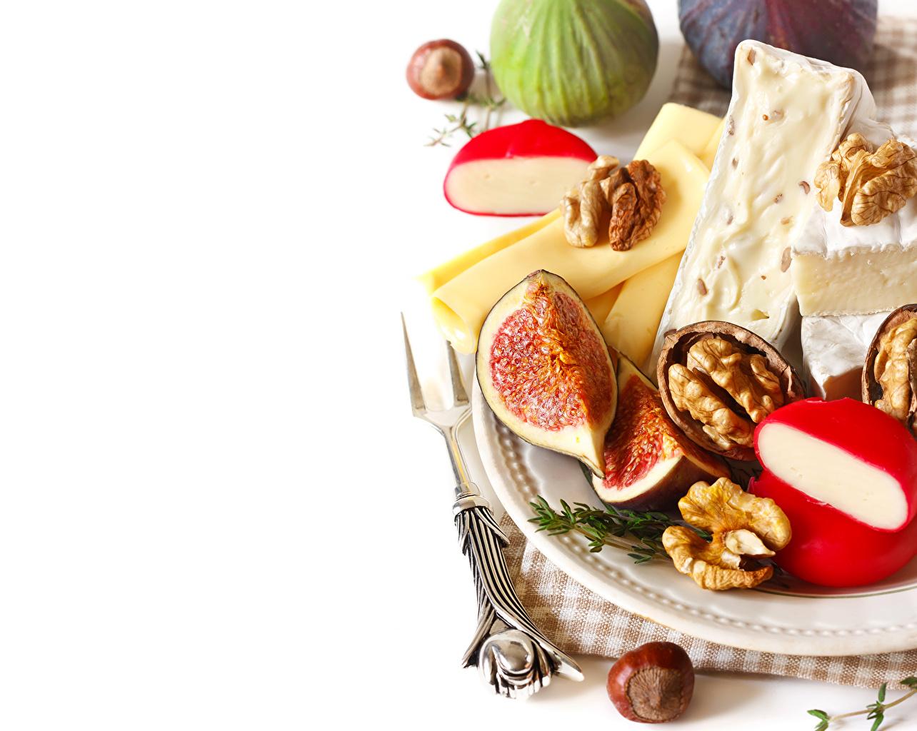 Фотография Сыры Еда Орехи Натюрморт Пища Продукты питания