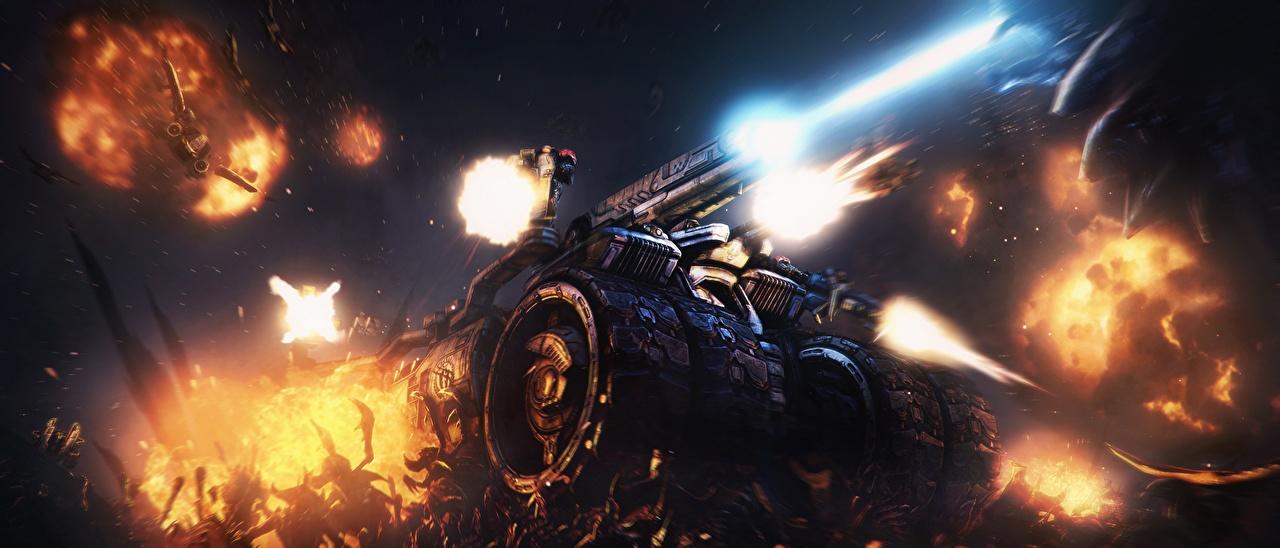 Картинка StarCraft 2 Unreal Tournament 3, Leviathan, Swarm Crusher Игры битва компьютерная игра Битвы сражения