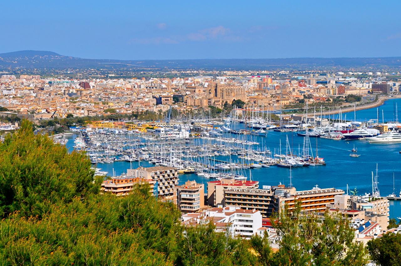 Фотографии Мальорка Майорка Испания Balearic Islands Дома город Здания Города