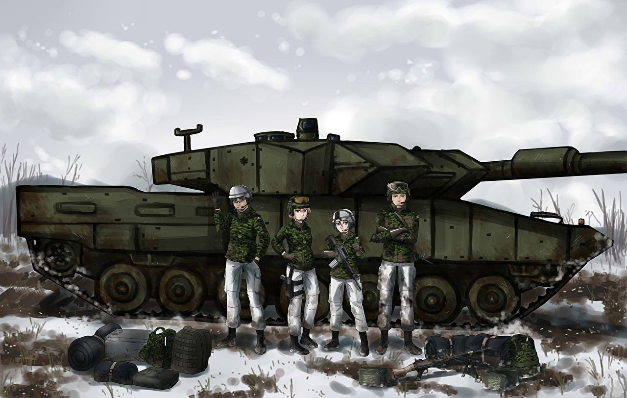 Картинка Танки Солдаты Leoprad Аниме