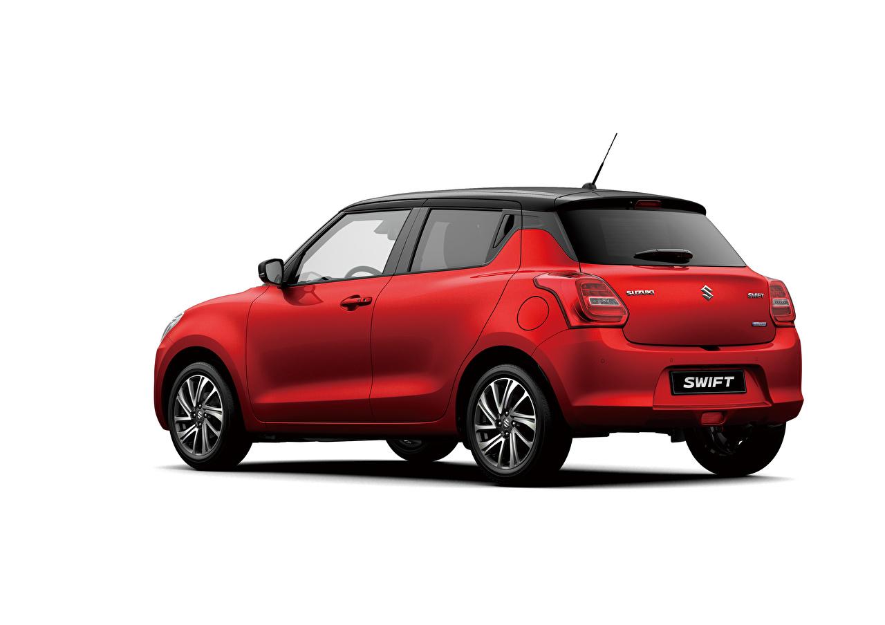 Фотографии Suzuki - Автомобили Swift Hybrid, 2020 красные Металлик Автомобили Белый фон Сузуки красная Красный красных авто машины машина автомобиль белом фоне белым фоном