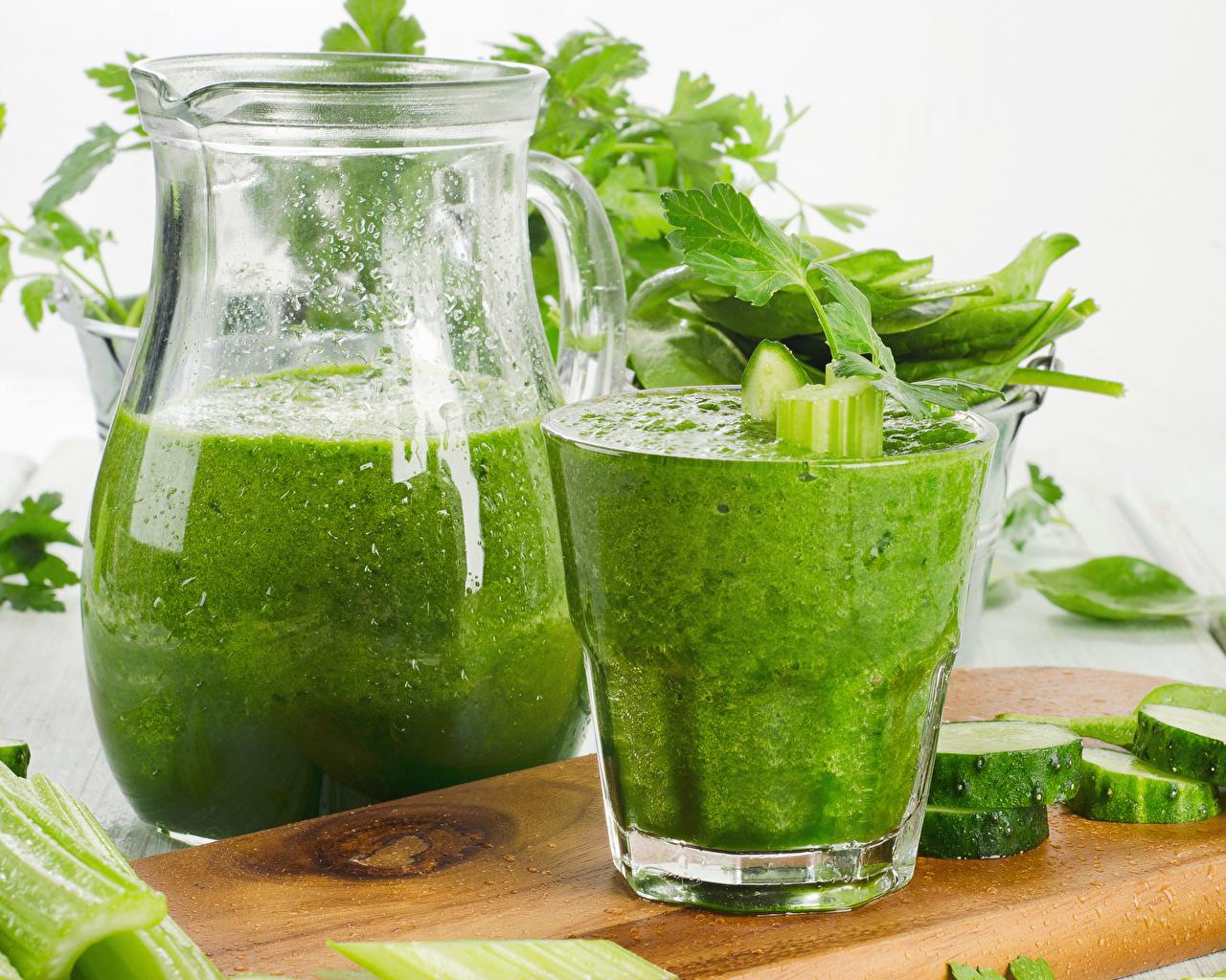 Картинка Смузи Стакан Кувшин Пища Овощи стакана стакане кувшины Еда Продукты питания