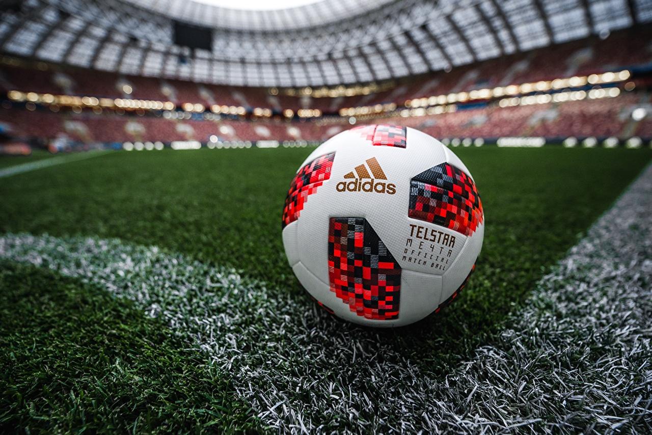 Фото Russia FIFA World Cup 2018, Adidas Telstar 18 Футбол спортивные Стадион Мяч газоне Спорт спортивный спортивная Газон Мячик
