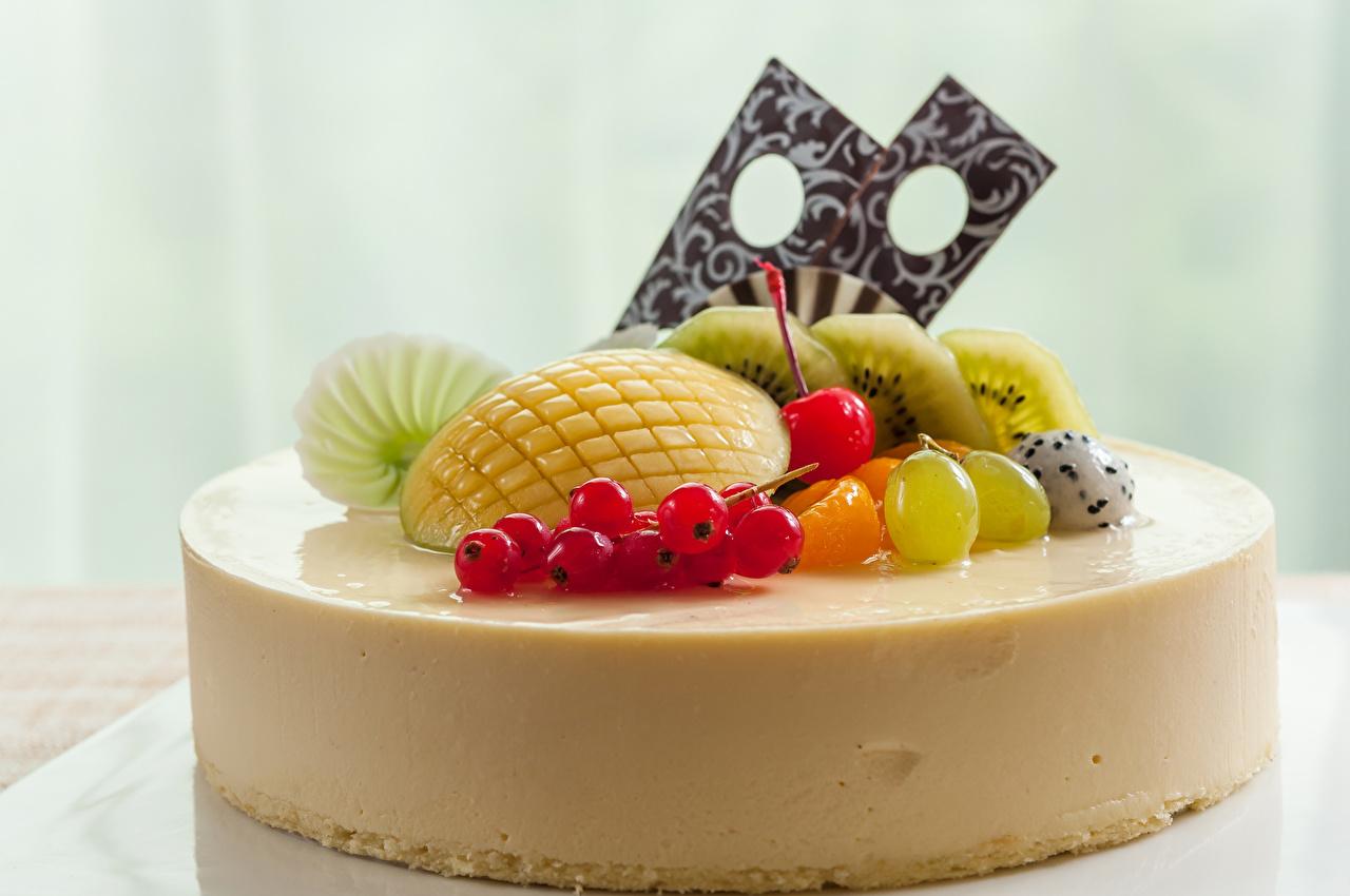 Картинка Торты Еда Фрукты сладкая еда Пища Продукты питания Сладости
