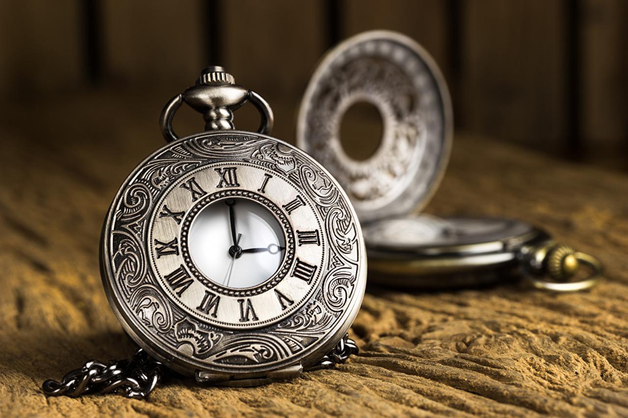 Фотография Карманные часы Часы вблизи Крупным планом