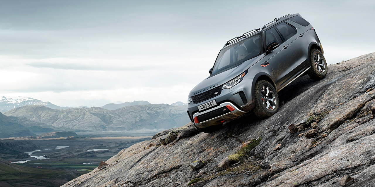 Картинки Land Rover SUV Discovery 4x4 2017 V8 SVX 525 машины Range Rover Внедорожник авто машина Автомобили автомобиль