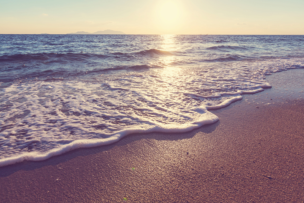 Фото Море Природа Волны берег Побережье