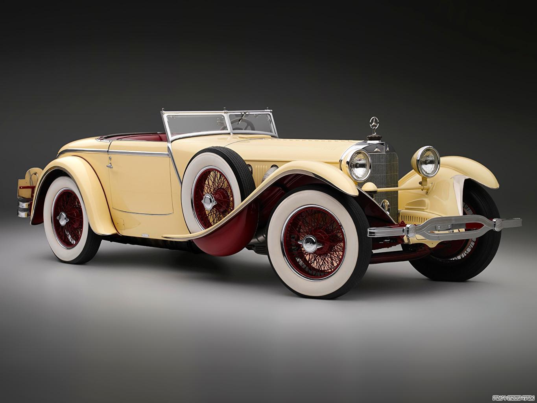 Обои для рабочего стола Mercedes-Benz 680S Saoutchik Torpedo Roadster 1928 Родстер машина Мерседес бенц авто машины автомобиль Автомобили