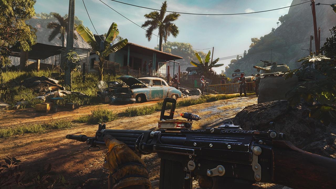 Картинка Far Cry автоматом 6 Игры автомат Автоматы компьютерная игра