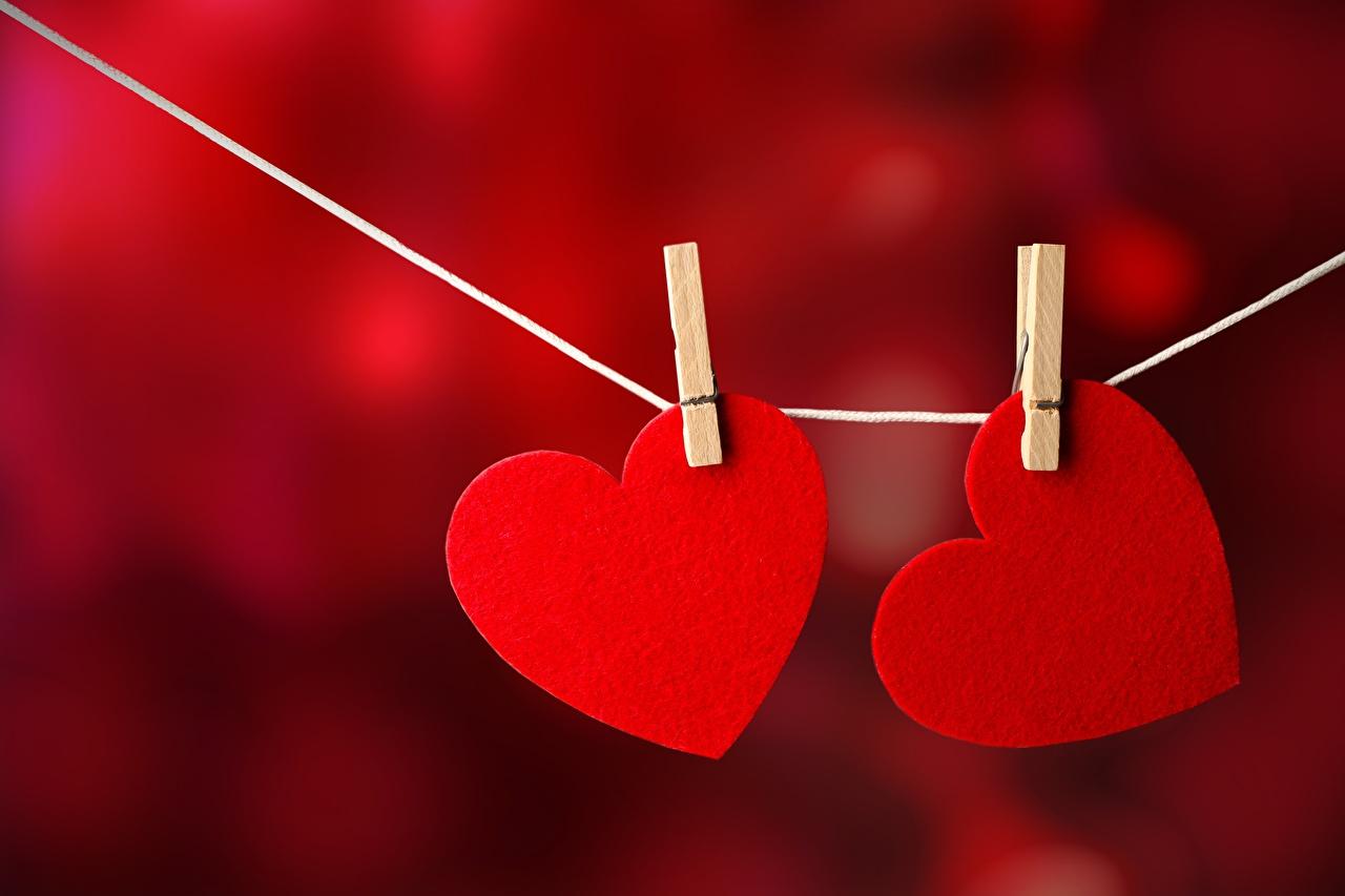 Фотография сердца Прищепки два красные серце Сердце сердечко 2 две Двое вдвоем красная Красный красных