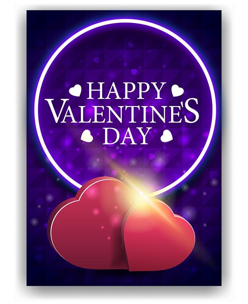 Фотография Лучи света День святого Валентина английская Сердце 2 Слово - Надпись Векторная графика  для мобильного телефона День всех влюблённых Английский инглийские серце сердца сердечко два две Двое вдвоем слова текст