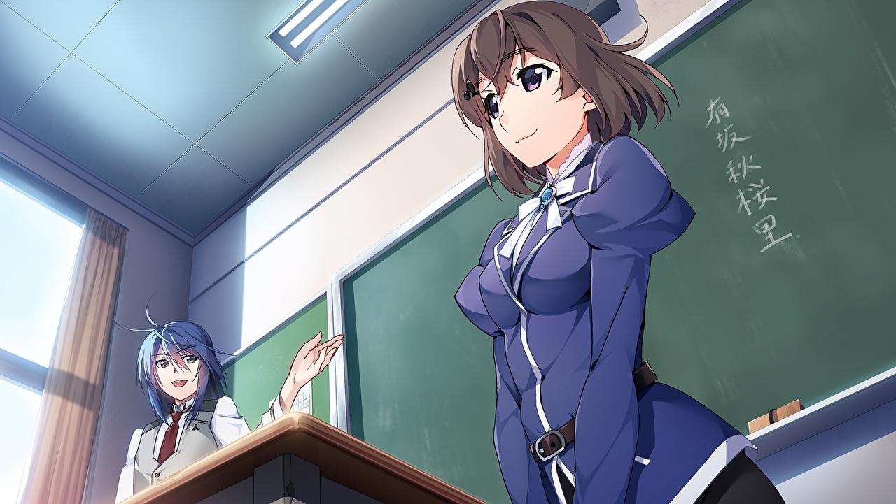 Обои Grisaia: Phantom Trigger Школа Аниме Девушки Грисайя: Призрачный курок школьные