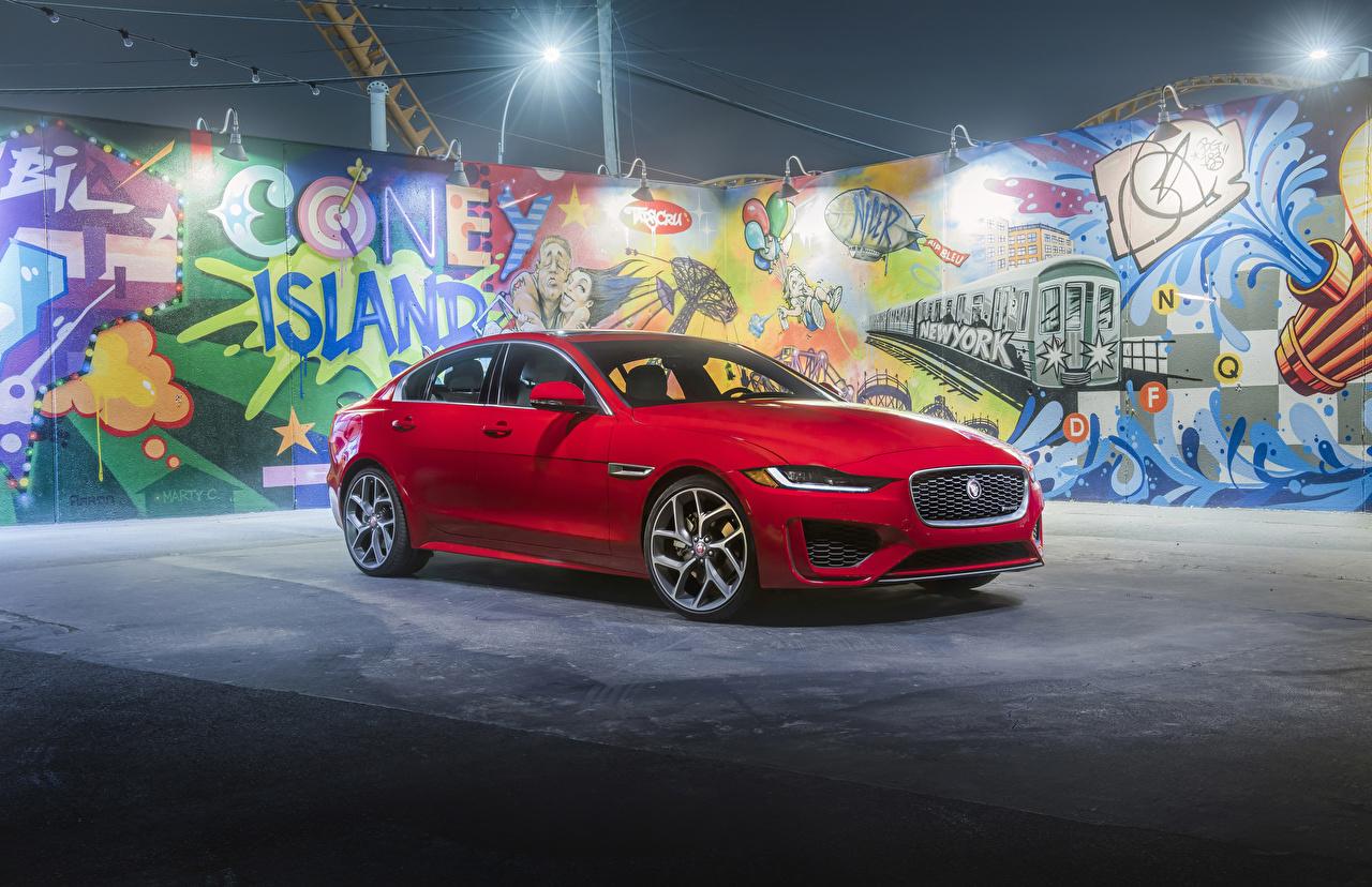 Фотографии Jaguar 2020 XE P300 R-Dynamic Красный Авто Ягуар Машины Автомобили