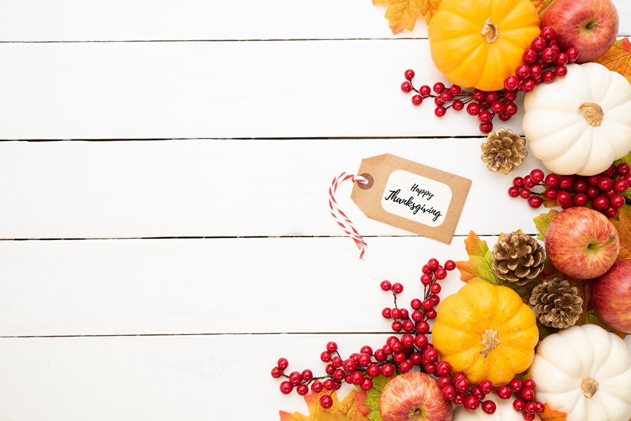 Фотография Осень Тыква Яблоки Пища шишка Шаблон поздравительной открытки Доски осенние Еда Шишки Продукты питания