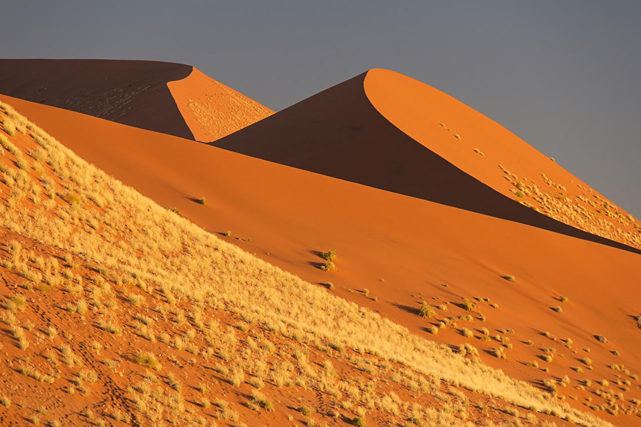 Фотографии ЮАР Namibia Природа Пустыни Песок Южно-Африканская Республика песке песка