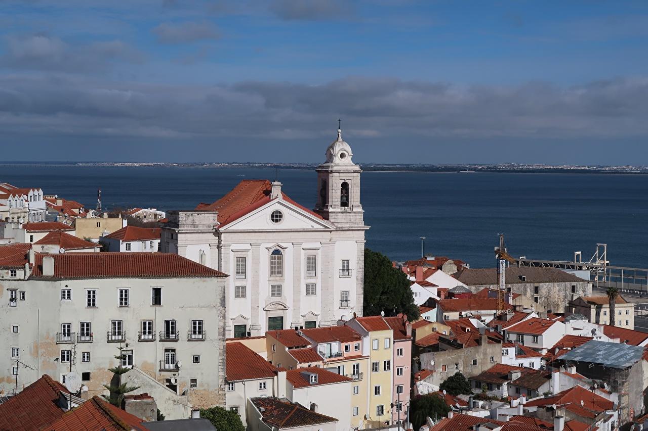 Фото Церковь Португалия Alfama, Lisbon Дома город Города Здания