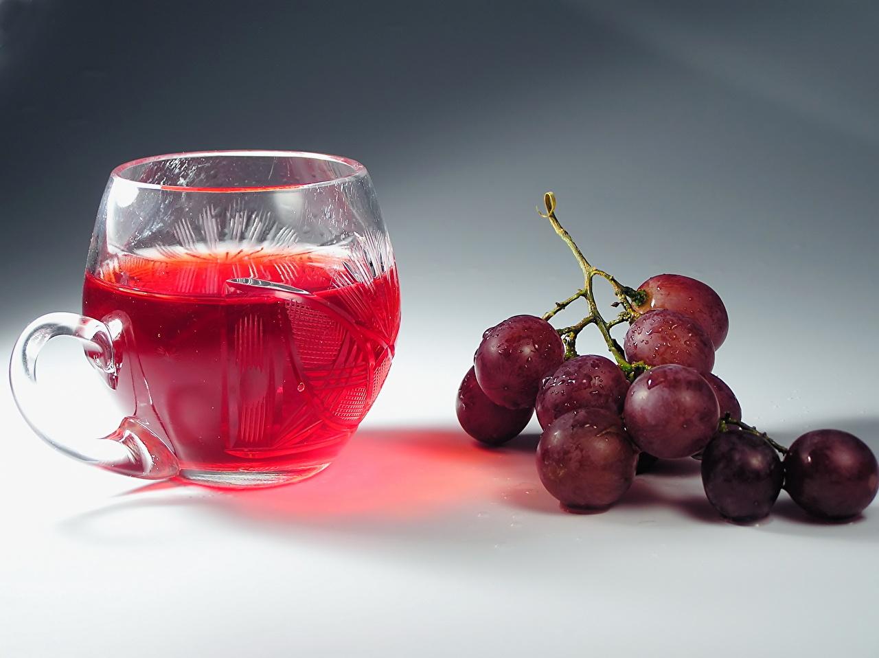 Фотография Сок Виноград Кружка Продукты питания напиток Еда Пища кружке кружки Напитки