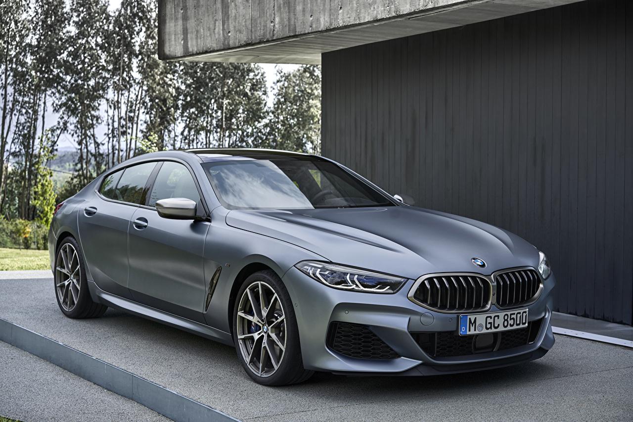 Фотография BMW 2019 M850i xDrive Gran Coupé Worldwide Купе серые машина БМВ серая Серый авто машины Автомобили автомобиль