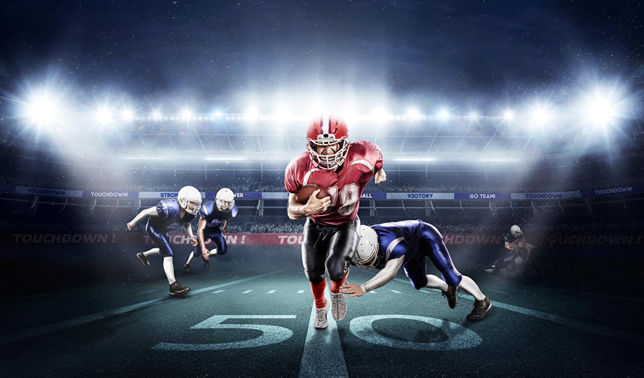 Фотографии Мужчины Американский футбол Спорт Униформа униформе
