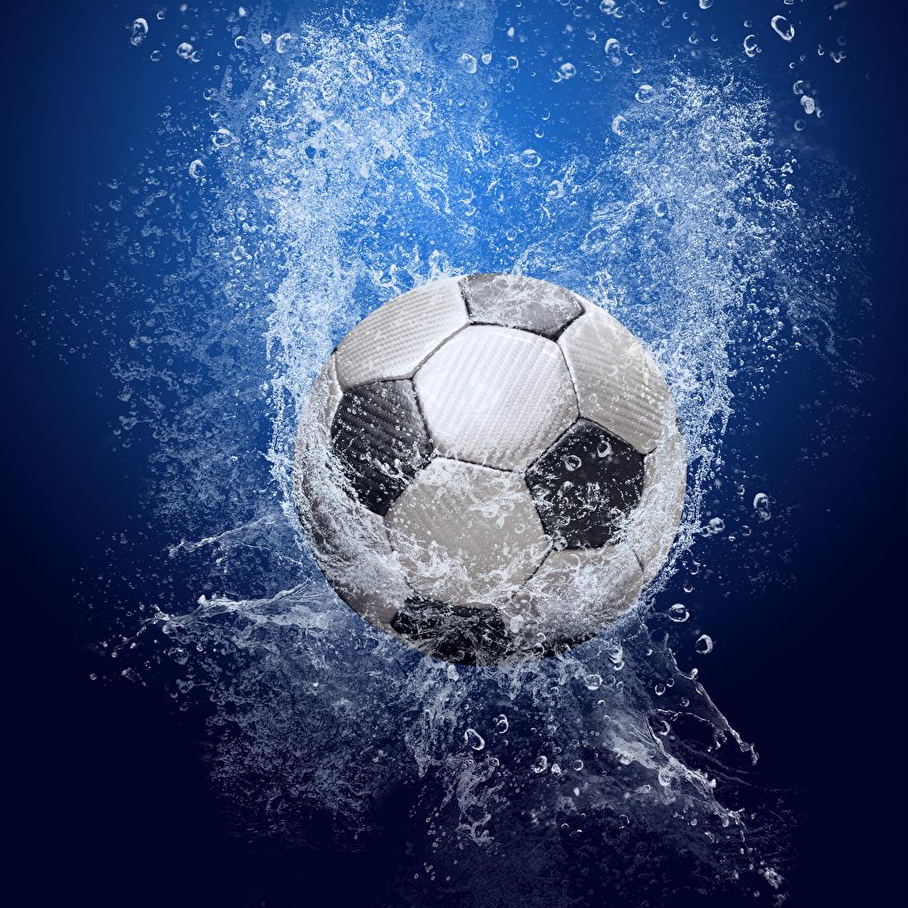 Фото Футбол спортивные с брызгами Мячик Спорт спортивный спортивная Брызги Мяч