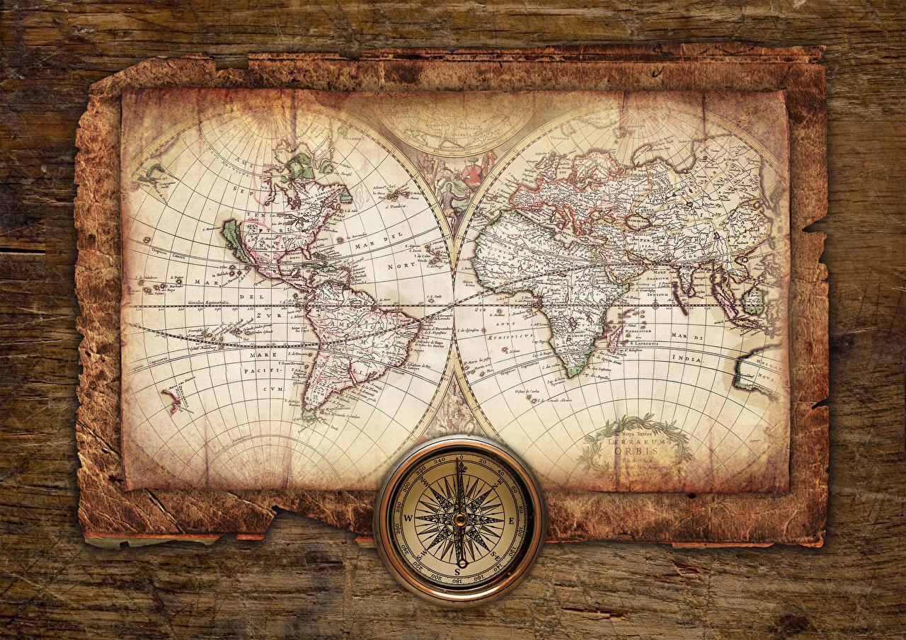 Фотография Компас Географическая карта География компаса