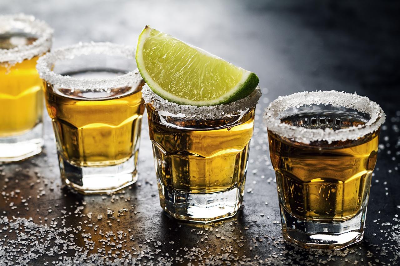Картинки Алкогольные напитки Лайм Соль Пища Рюмка соли солью Еда рюмки Продукты питания