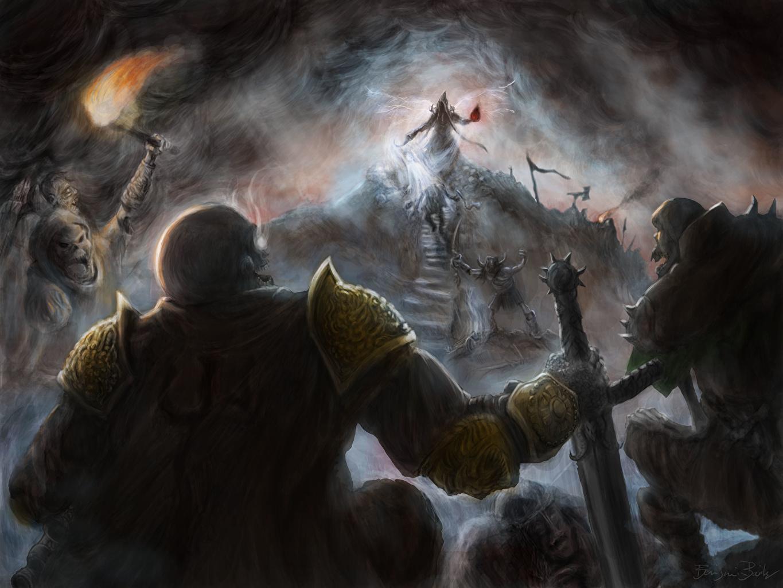 Фотография Diablo Diablo 3 доспехе монстр Нежить Воители Лестница Фантастика Игры битва Diablo III броня броне Доспехи доспехах Нечисть Монстры чудовище воин воины Фэнтези лестницы компьютерная игра Битвы сражения