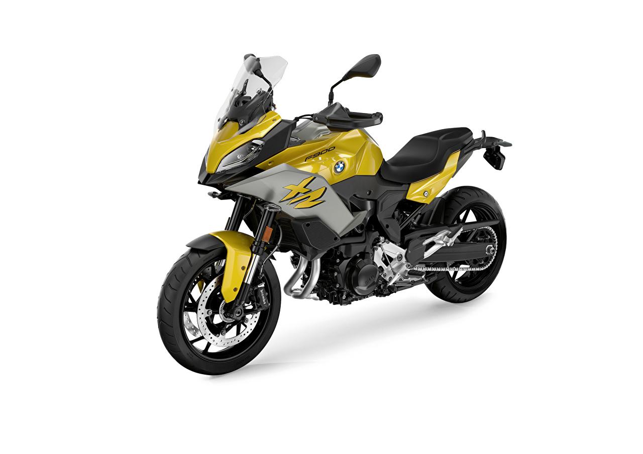 Картинка БМВ 2020 F 900 XR Мотоциклы Белый фон BMW - Мотоциклы мотоцикл белом фоне белым фоном