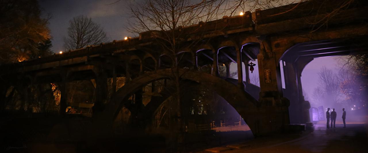 Картинки Человек-паук: Возвращение домой мост кино Ночные Мосты Фильмы Ночь ночью в ночи