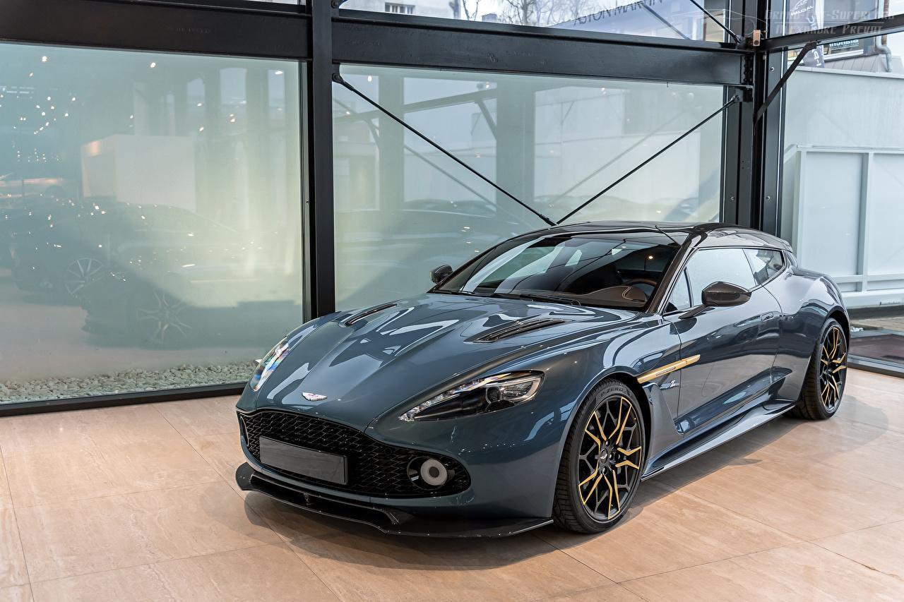 Картинка Aston Martin Vanquish Zagato Shooting Brake Купе машины Металлик Астон мартин авто машина Автомобили автомобиль
