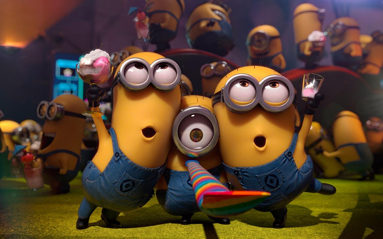 Фото Гадкий я 2 Миньоны Мультфильмы Очки мультик Мультики очков очках