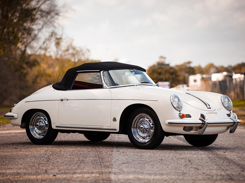 Обои Porsche 356B 1600 T-5 Super 90 Roadster 1960–62 Родстер Автомобили Порше Авто Машины