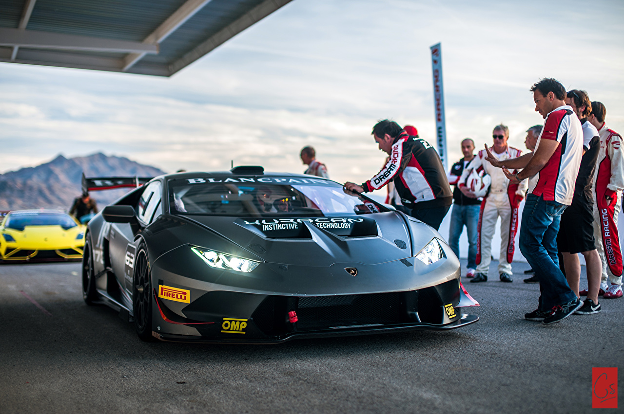 Фотография Ламборгини Huracan LP620-2 Super Trofeo машины Lamborghini авто машина автомобиль Автомобили