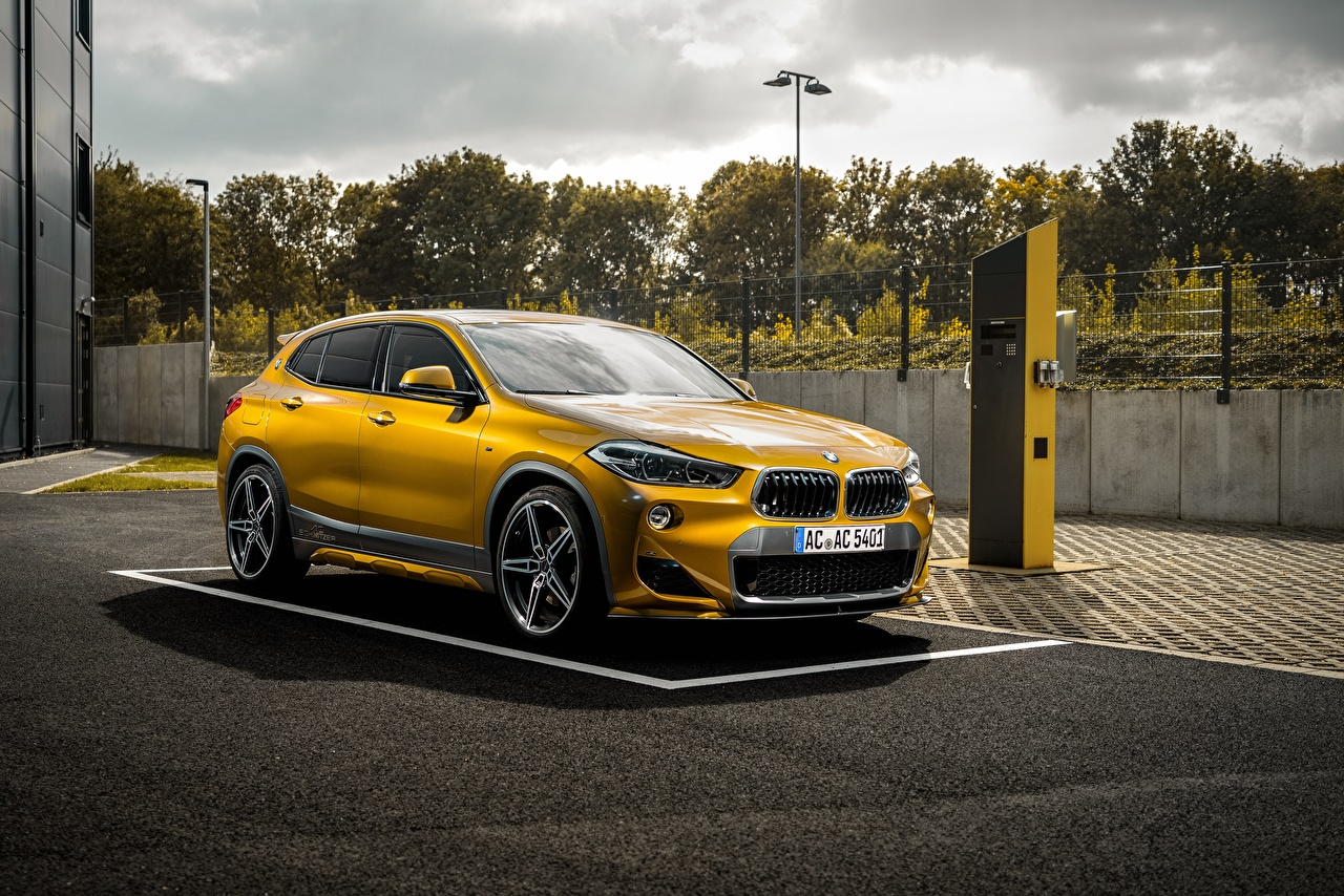 Обои для рабочего стола БМВ AC Schnitzer ACS2 желтая машина BMW желтых желтые Желтый авто машины автомобиль Автомобили
