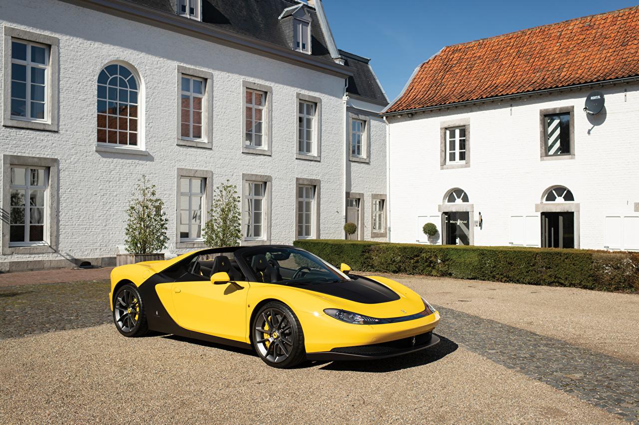 Картинки авто Ferrari 2014 Sergio Pininfarina желтые Металлик машина машины автомобиль Автомобили Феррари желтых Желтый желтая
