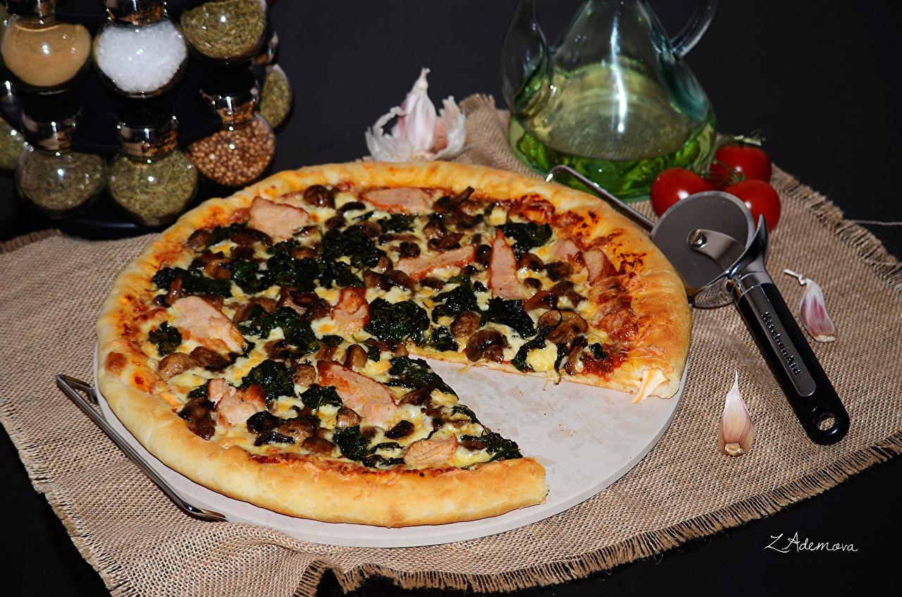 Фотография Пицца Быстрое питание Еда Фастфуд Пища Продукты питания