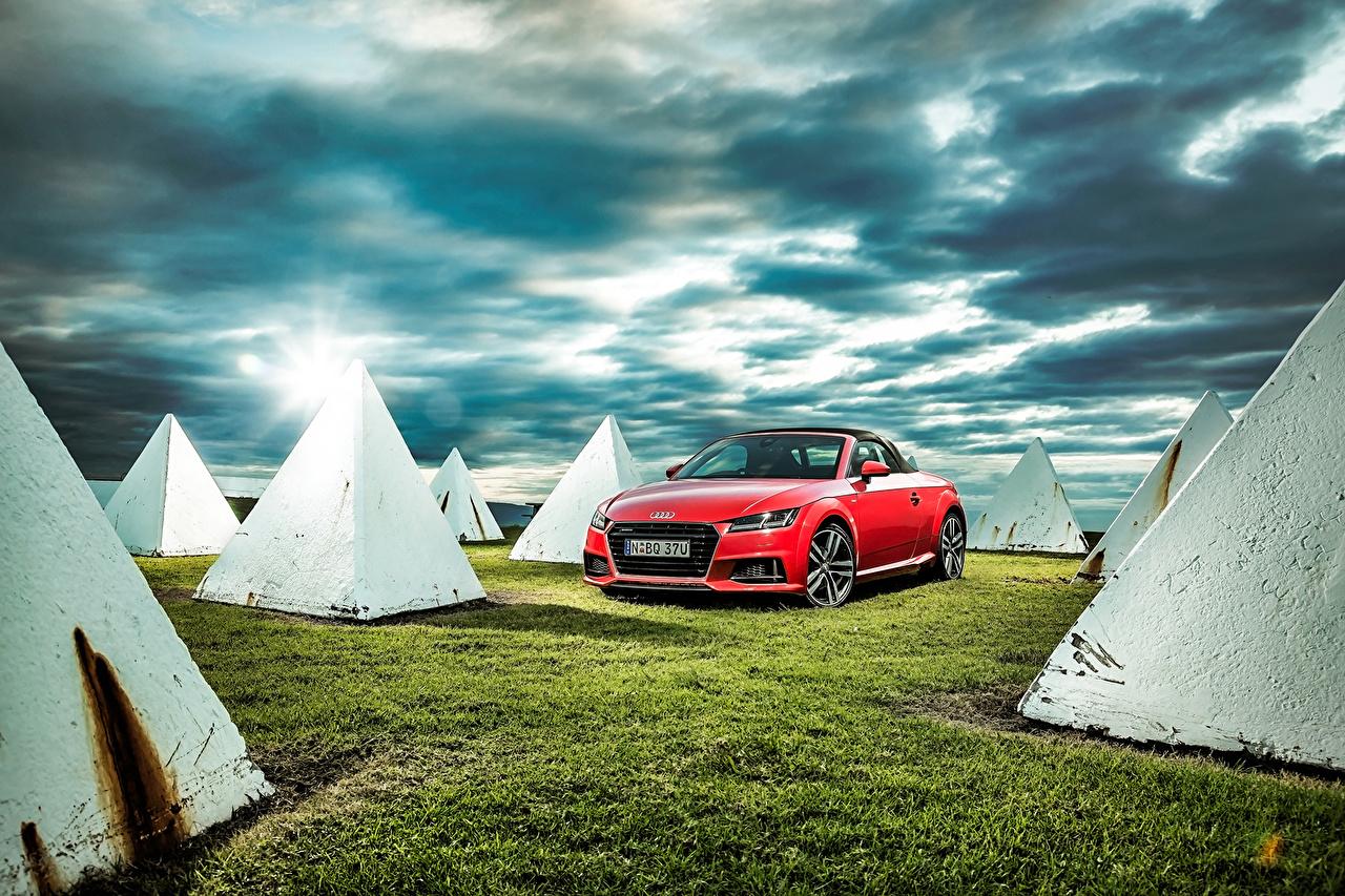 Обои Audi 2015 TT Roadster TFSI quattro S line AU-spec Родстер Авто Ауди Машины Автомобили