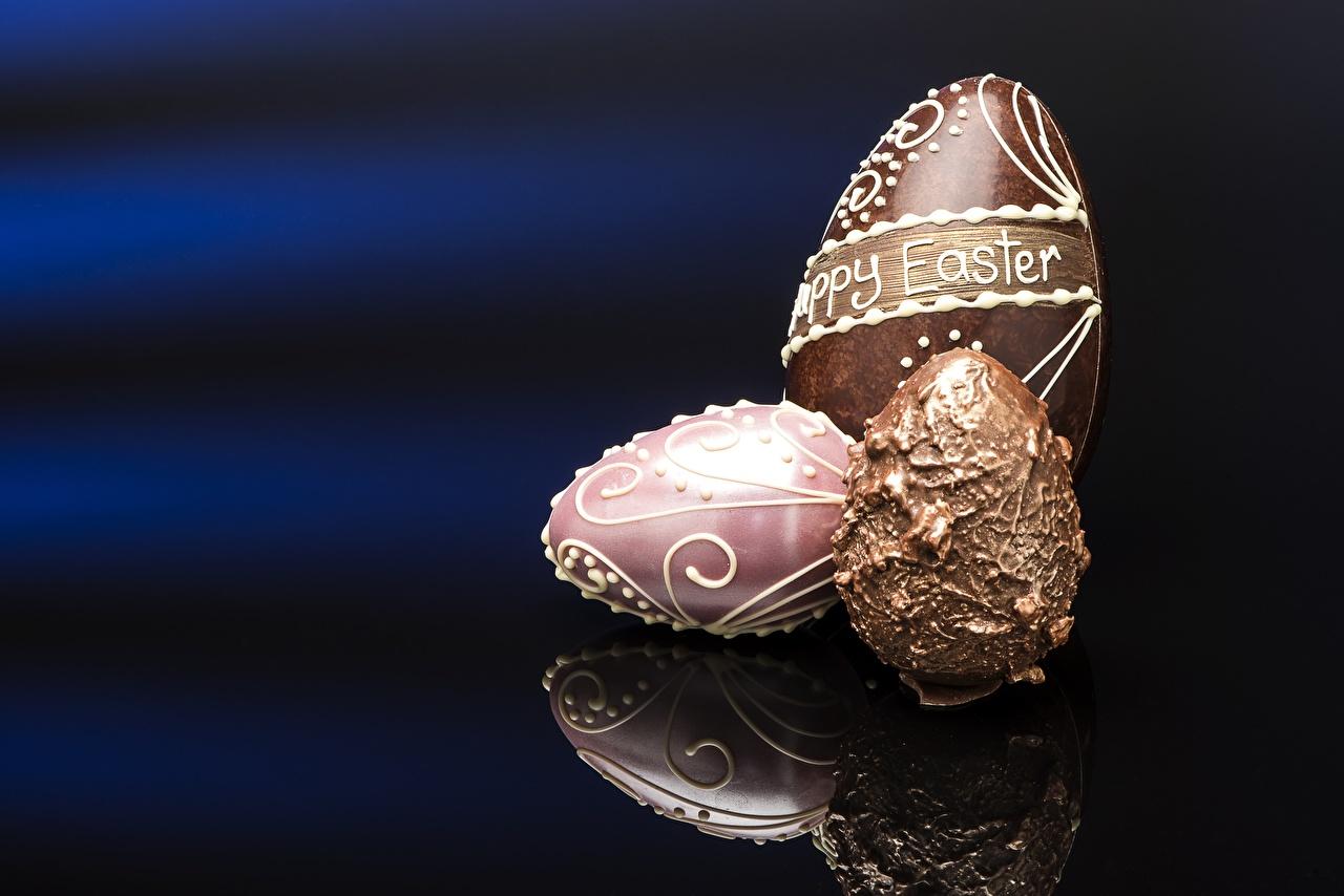 Картинки Пасха яйцо Шоколад Продукты питания яиц Яйца яйцами Еда Пища