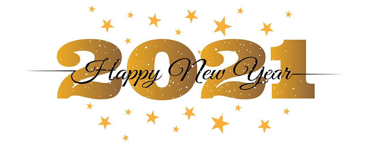 Фотографии 2021 Новый год Звездочки Английский Слово - Надпись белом фоне Рождество английская инглийские слова текст Белый фон белым фоном