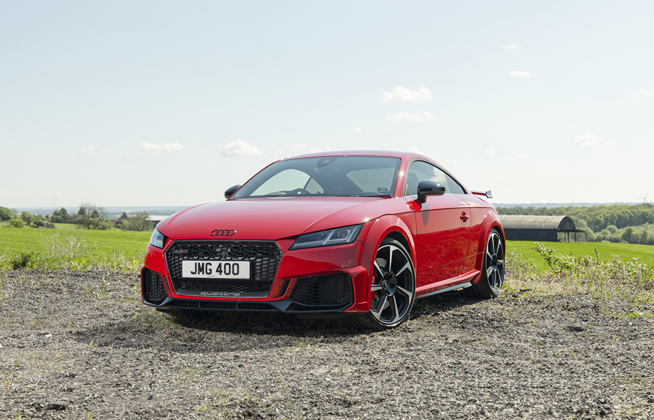 Картинка Ауди 2019 TT RS Coupé Купе Красный авто Металлик Audi красных красные красная машина машины автомобиль Автомобили