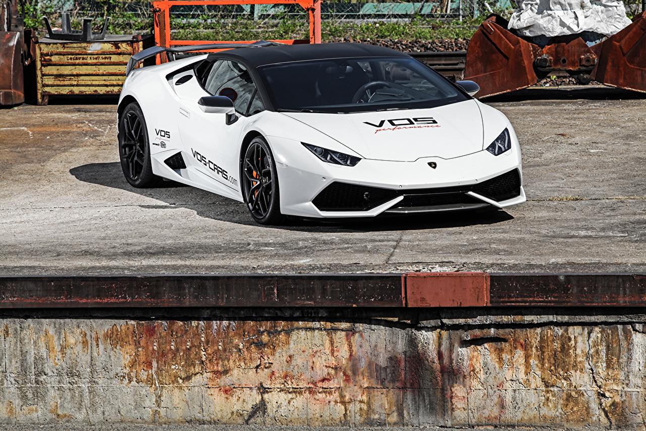 Фото Ламборгини 2015 VOS Huracan LB724 Роскошные Белый авто Lamborghini дорогие дорогой дорогая люксовые роскошная роскошный белых белые белая машина машины автомобиль Автомобили