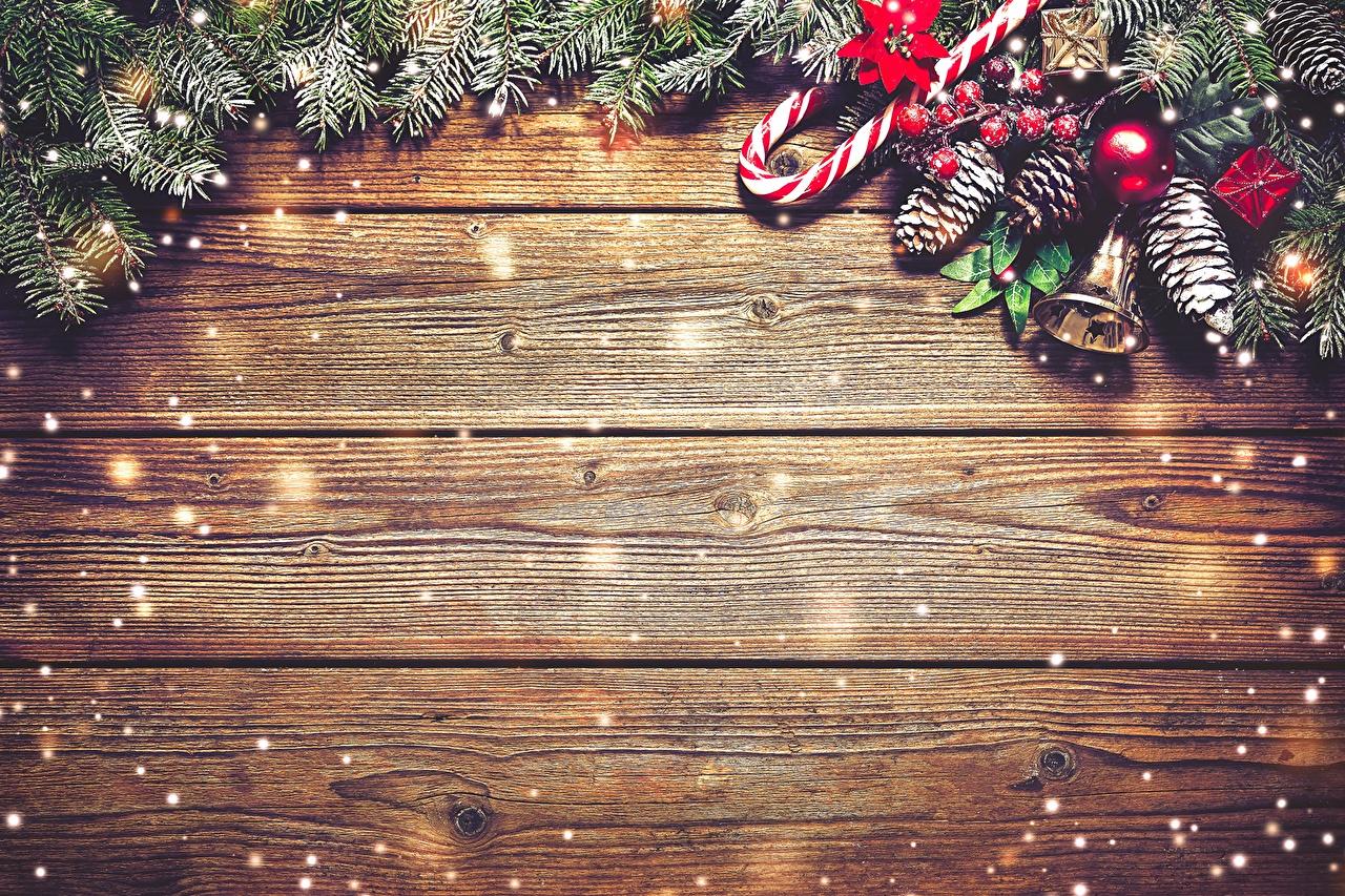 Фотографии Рождество Шишки Колокольчики Праздники Доски Новый год шишка колокольчик