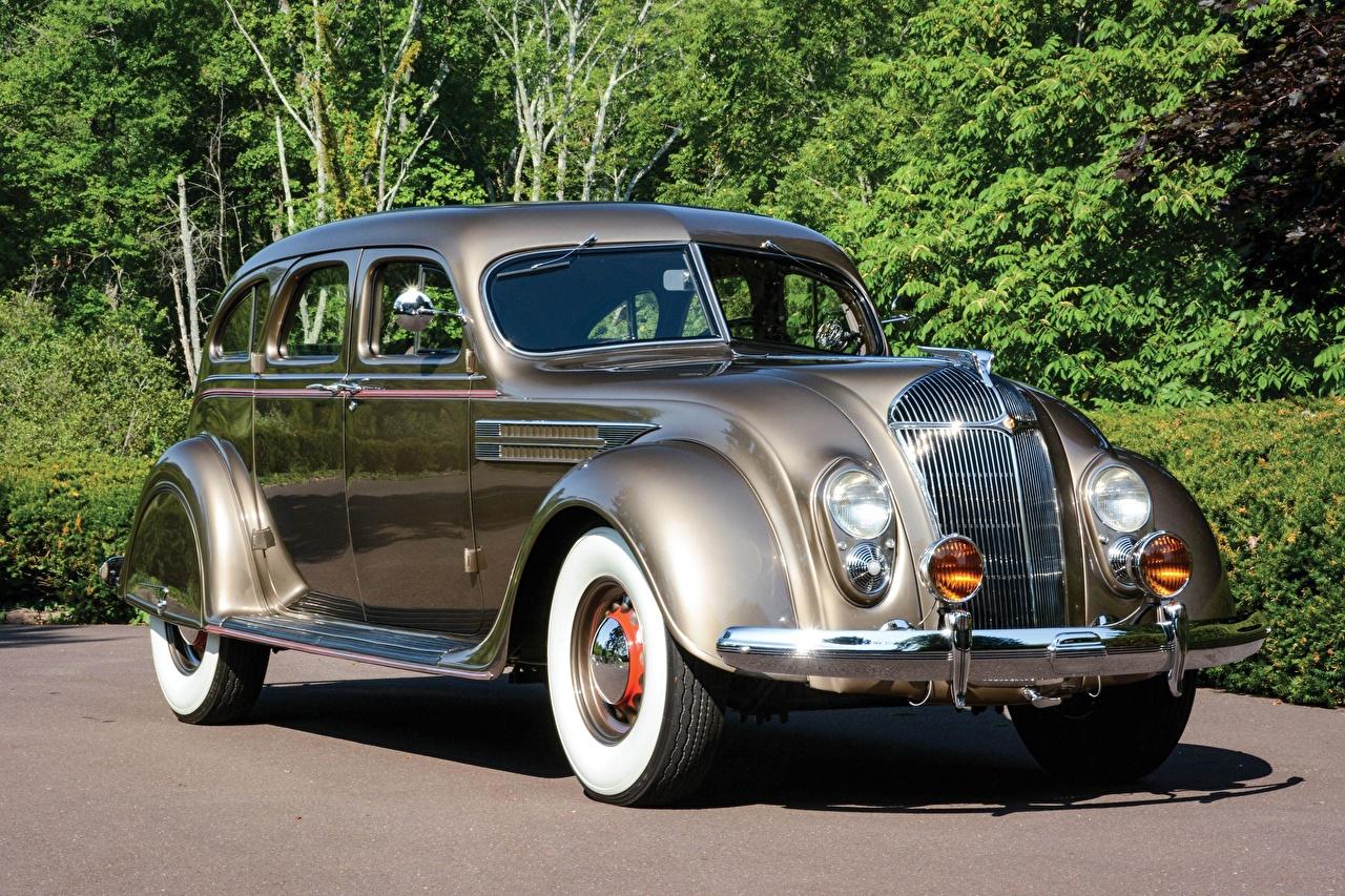 Фото Chrysler Imperial Airflow Sedan 1936 винтаж автомобиль Крайслер Ретро старинные авто машина машины Автомобили