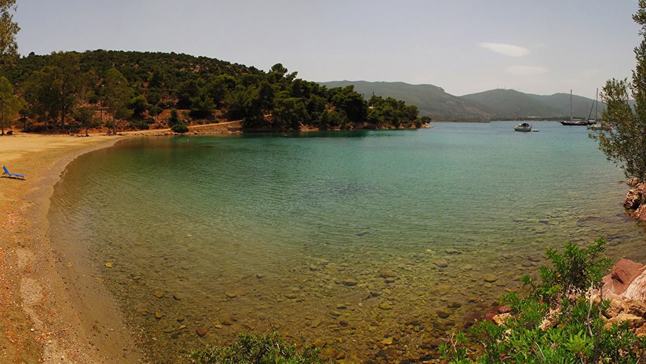 Картинки Греция Nisi Море Природа Побережье берег
