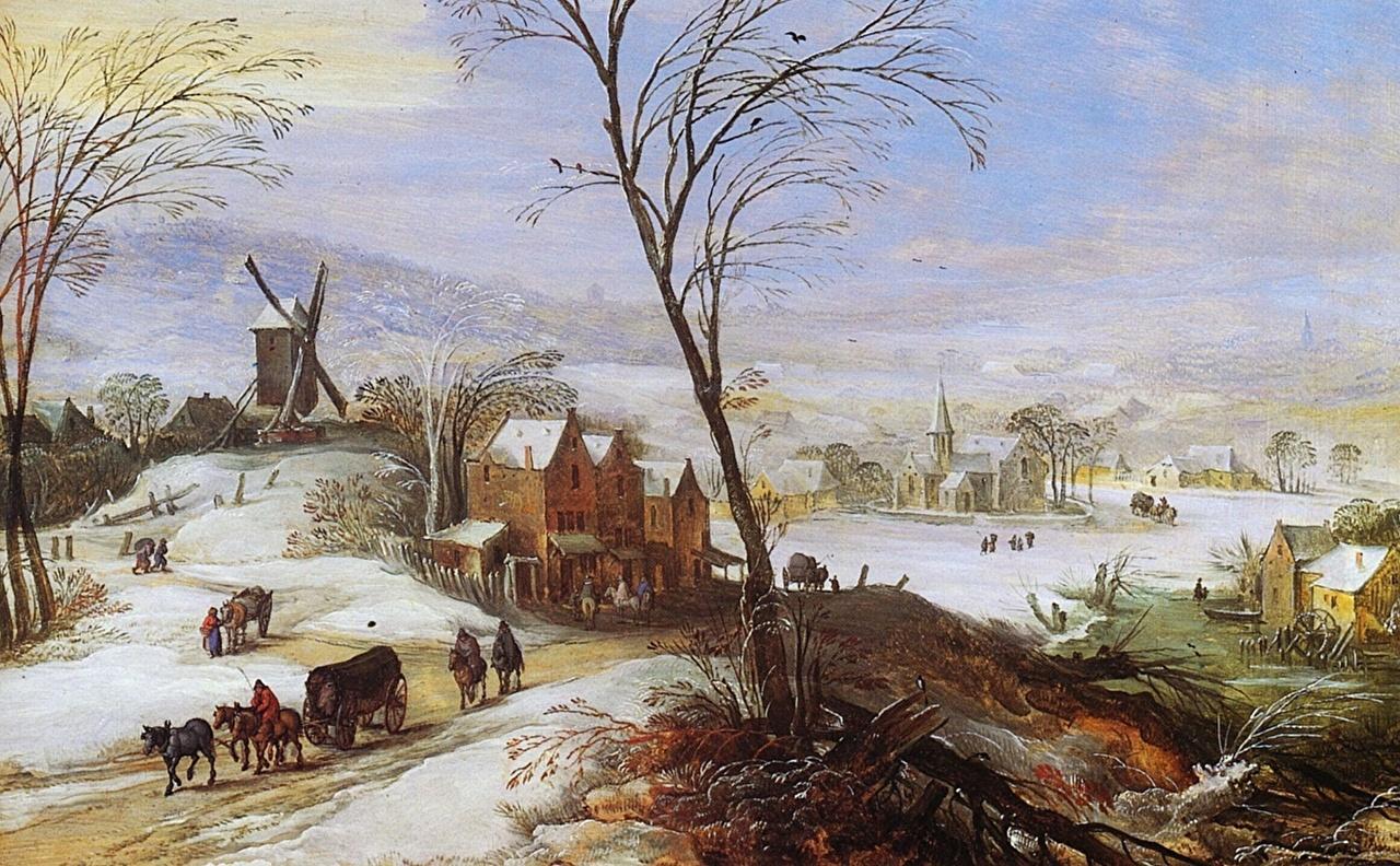 Фотографии мельницы Joos de Momper Живопись Мельница ветряная мельница картина